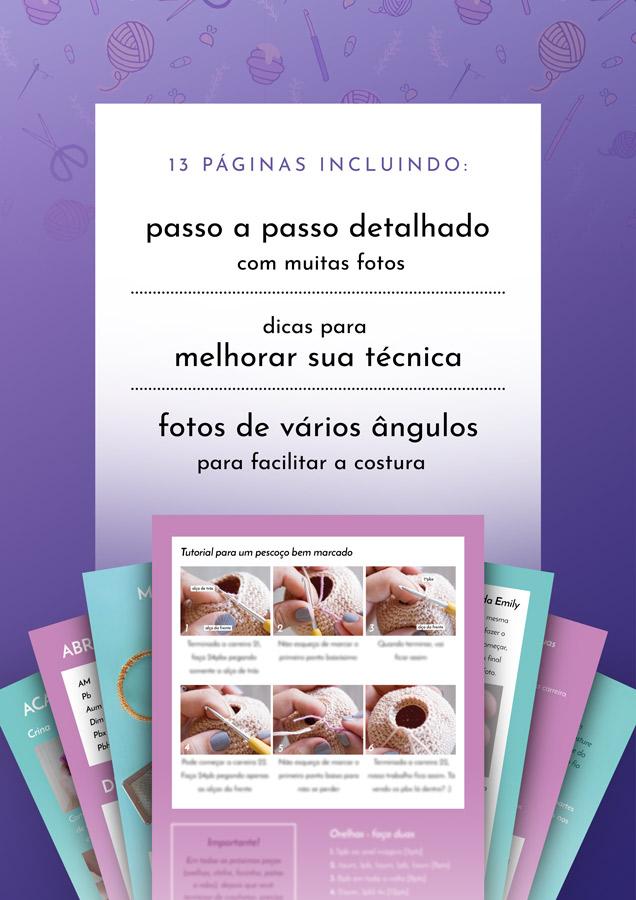 Emily, a Unicórnio – Receita de Amigurumi em PDF – Two Bee | 900x636